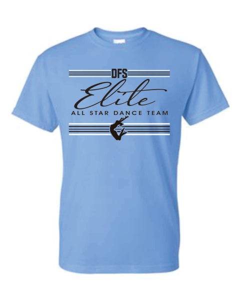 7 - Carolina Blue Striped Design T-shirt  - DFS Elite 2020