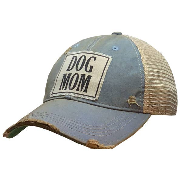 Dog Mom - Sky Blue - Vintage Trucker Hat - YOU MATTER