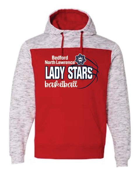D - Red Melange Hoodie - Lady Stars Team 2020