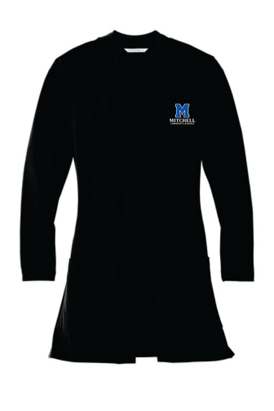 3 - Ladies Long Cardigan with Pockets - MCS Staff Apparel