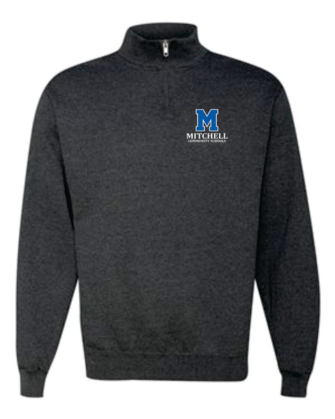 10 - Black Heather Cadet Collar Fleece Sweatshirt - MCS Staff Apparel