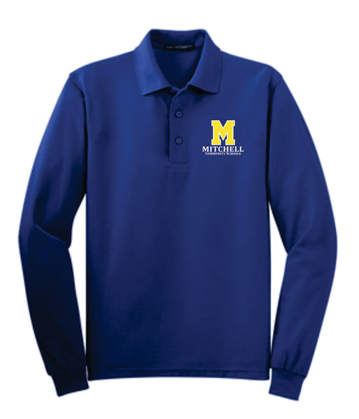 11 - Sport Tek Long Sleeve Performance Polo - MCS Staff Apparel