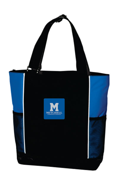 15 - Tote Bag with leather patch emblem - MCS Staff Apparel