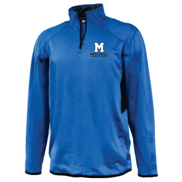 8 - Pennant 1/4 Zip Pullover in Royal/Black - MCS Staff Apparel