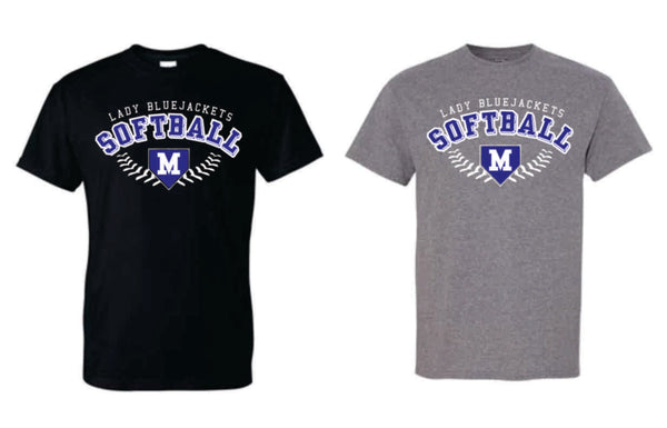 Mitchell Softball T-shirt Design (Black or Gray) - Mitchell Softball 2020