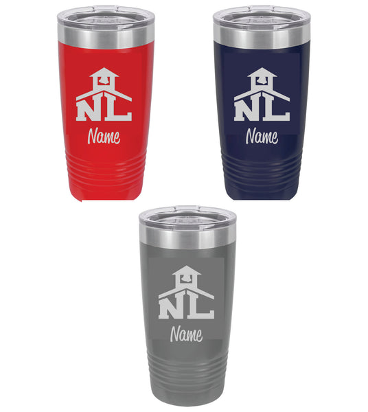 14 - 20 ounce stainless steel tumbler (3 colors to choose from) - NLCS Staff Store