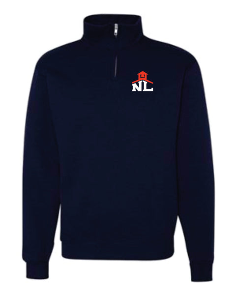 16 - Navy Cadet Collar Fleece Sweatshirt - NLCS Staff Store
