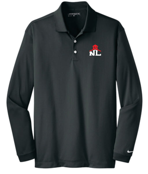 3 - NIKE LONG SLEEVE POLO - NLCS Staff Store