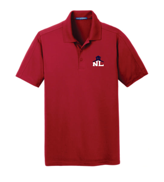 4 - PORT AUTHORITY RICH RED POLO - NLCS Staff Store