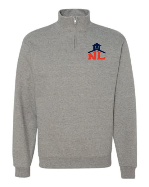 SPORT GRAY CADET COLLAR SWEATSHIRT