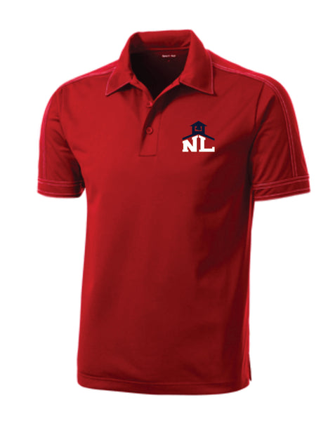 CONTRAST STITCH PERFORMANCE POLO (Navy or Red)