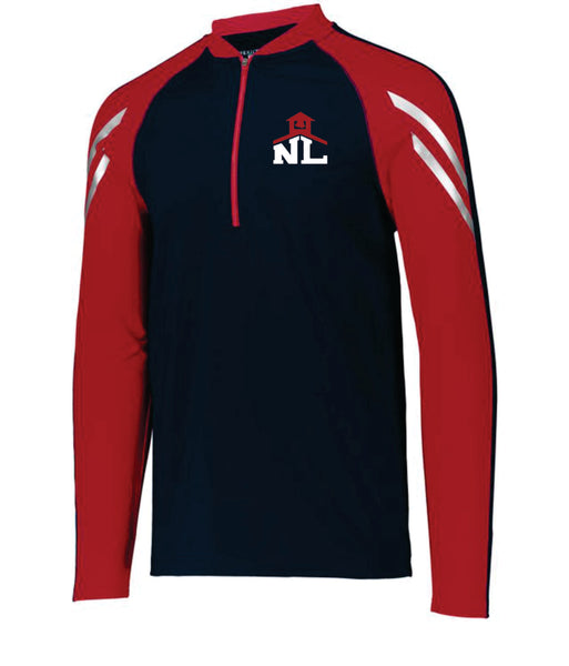 NAVY/RED AUGUSTA PULLOVER