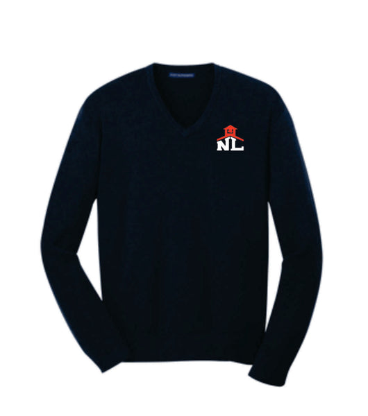 NAVY V-NECK CASUAL SWEATER (Ladies or Mens)
