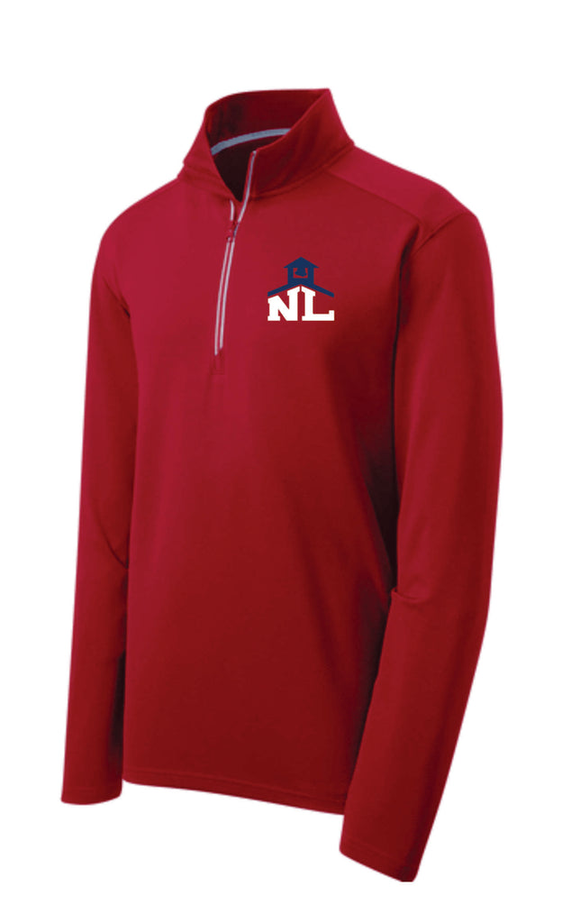 RED 1/4 ZIP PERFORMANCE PULLOVER (Mens and Ladies)