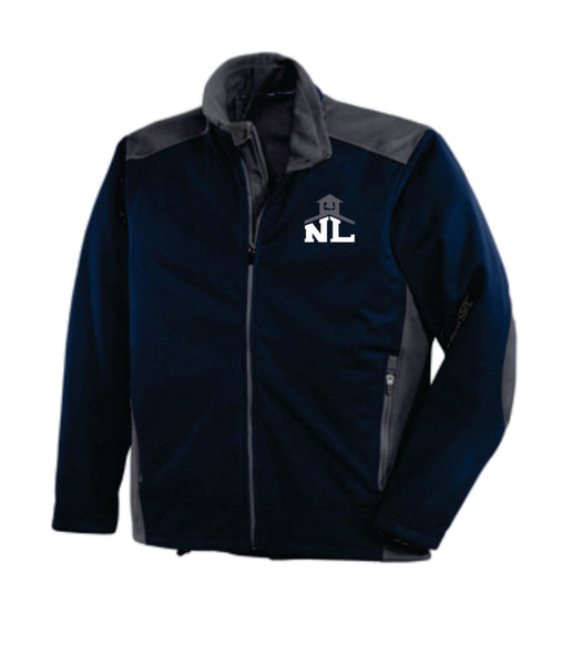 NAVY/GRAPHITE SOFT SHELL JACKET