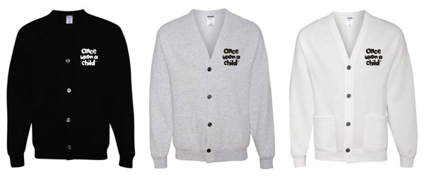 OUAC -  EMBROIDERED CARDIGAN SWEATSHIRT - 3 Color Options