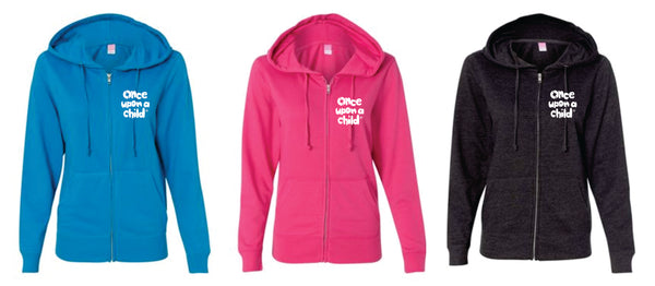 OUAC -  LADIES CUT FRENCH TERRY FULL ZIP HOODIE - 3 Color Options