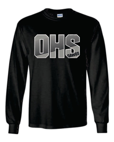 #17 - OHS Black Long Sleeve Tee - Orleans BPA 2020