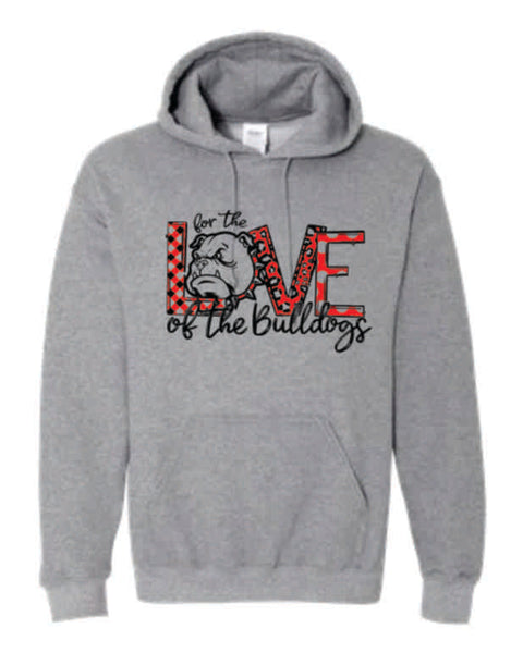 "#9 - ""For the Love"" SPORT GRAY HOODIE - Orleans BPA 2020"