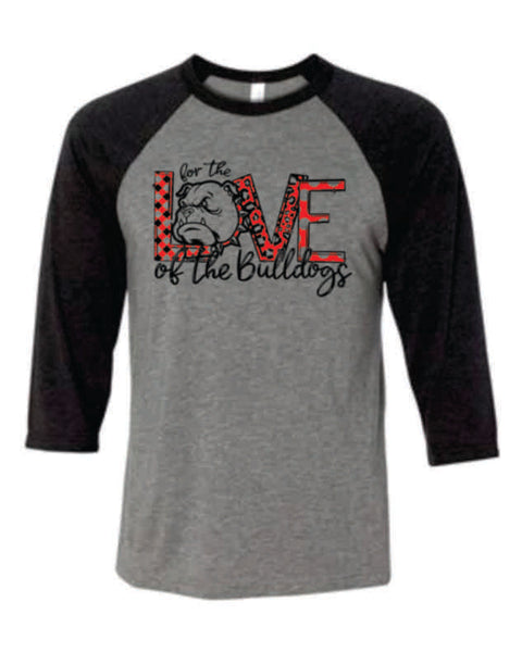 "#8 - ""For the Love"" RAGLAN BASEBALL TEE - Orleans BPA 2020"