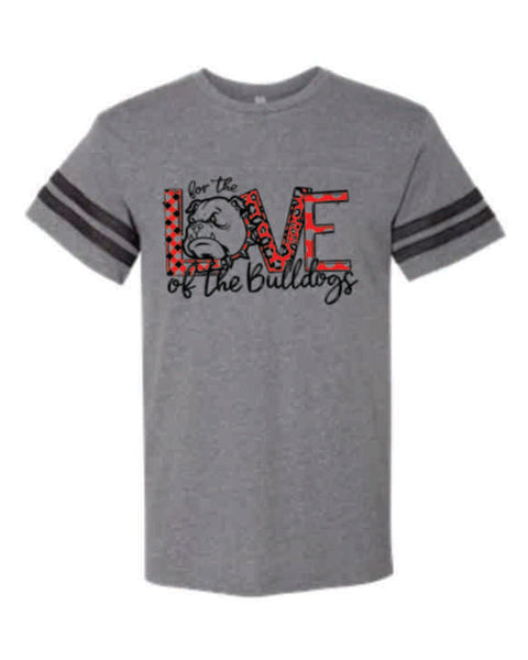 "#7 - ""For the Love"" GRAY STRIPED T-SHIRT - Orleans BPA 2020"