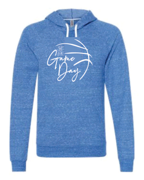 "#8 - Royal ""Game Day"" Snow Heather Hoodie (Adult Only) - Shoals 2020"