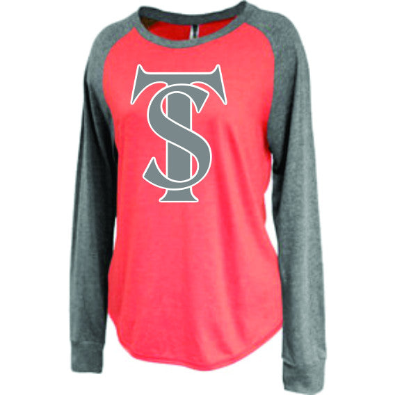 TS Logo - Ladies Long Sleeve Raglan Tee