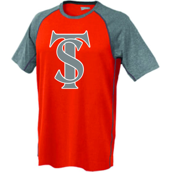 TS Logo - Orange Raglan Shirt