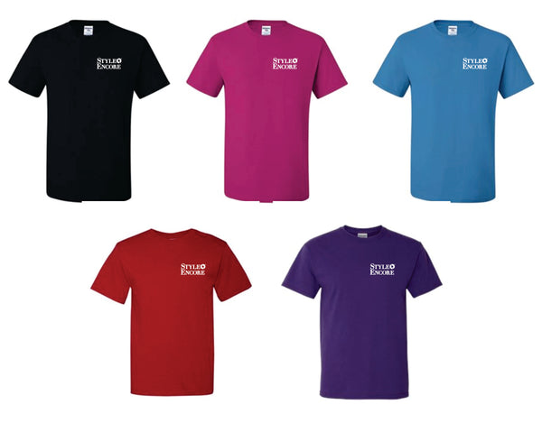STYLE ENCORE -  T-SHIRTS (Left Chest White Ink) - 5 Color Options