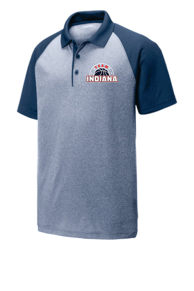 STYLE #7 - Embroidered Heathered Polo - TEAM INDIANA