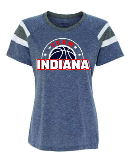 STYLE #4 - Ladies Cut Fan T-shirt - TEAM INDIANA