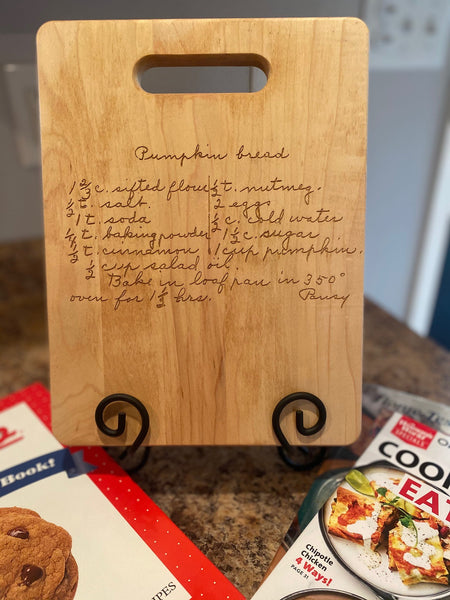 Engraved Cutting Board - Maple with Handle built in