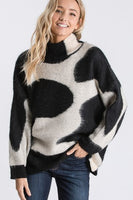 Cow Print Sweater