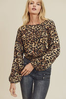 Smocked Leopard Crop Top