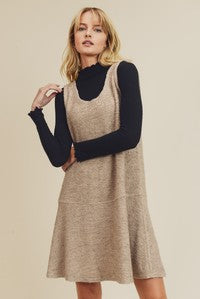 Oatmeal Knit Pinafore Dress