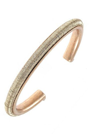 Metallic Accent Cuff Bracelet