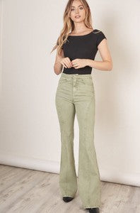 Sage Flare Trousers