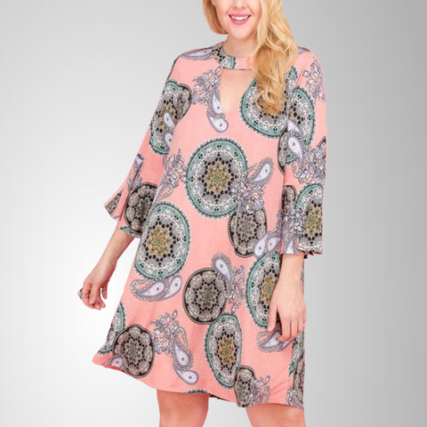 Plus Paisley Swing Tunic Dress