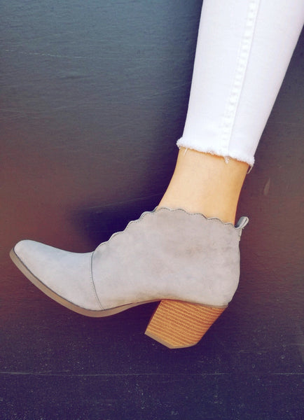 Scallop booties
