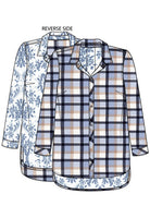 Reversible Plaid Surf Blue Flannel Top Tribal