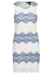 Tribal White Lace Shift Dress