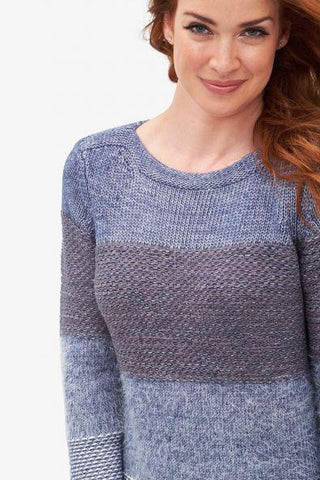 Crew Neck Sweater Marine Tribal
