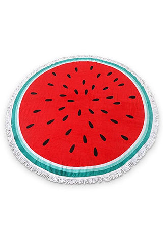 Watermelon Round Towel