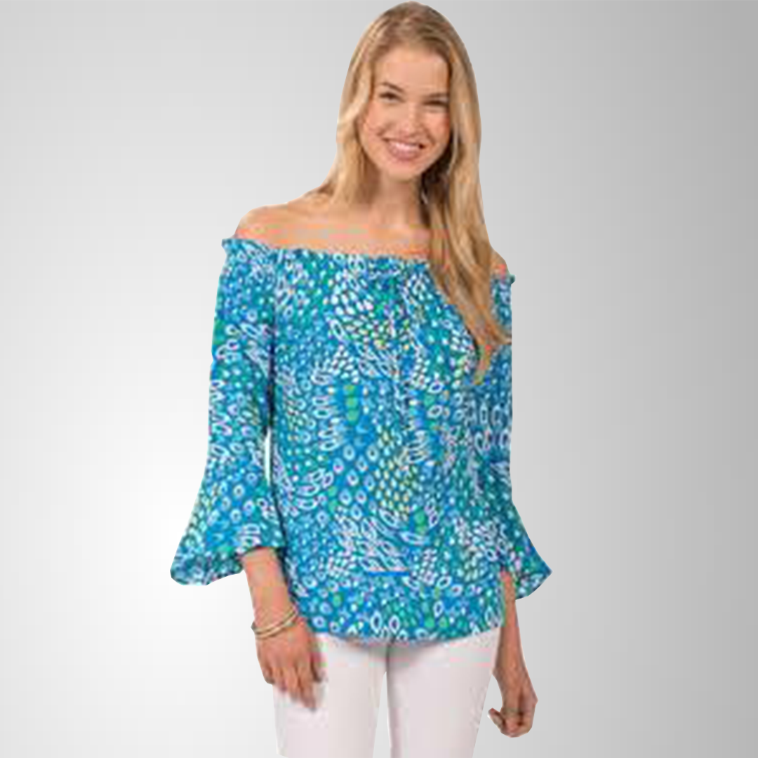 Escapada Living Vence Top Palm/Turquoise