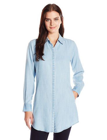 Foxcroft Denim Light Wash Long