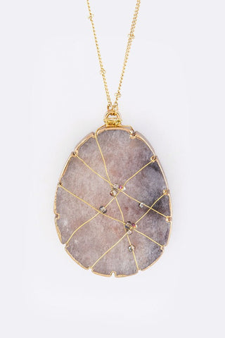 Wired Natural Stone Necklace