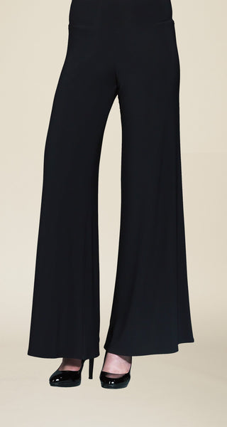 Soft Knit Pull on Palazzo Pant Black Clara Sun Woo