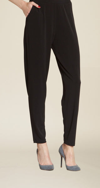 Clara Sun Woo pull on loose fit pant black