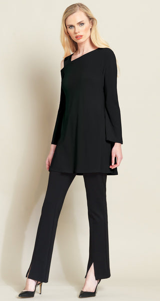 Clara Sun Woo drop shoulder bell sleeve tunic black