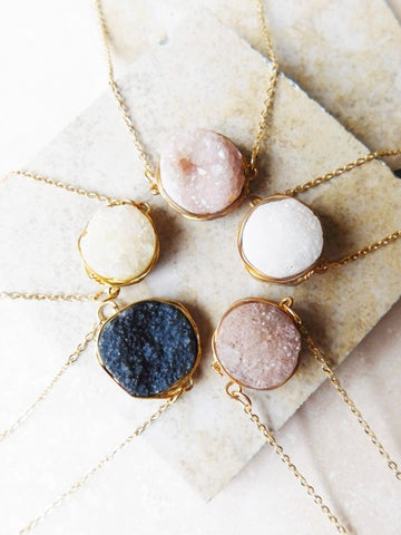 Lily Druzy Necklace